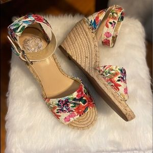 Beautiful summery wedge sandals